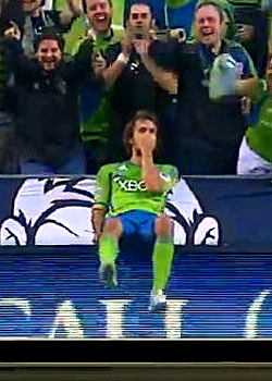 "Roger Levesque 2011 ""Diver"" Goal Celebration for Seattle Sounders"
